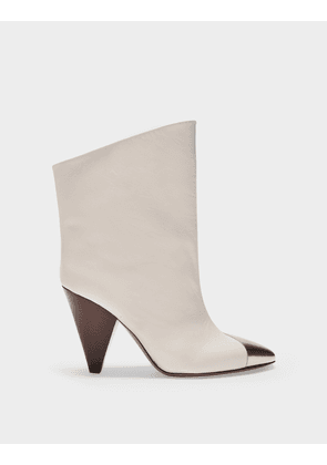 Lapee Boots in White Leather