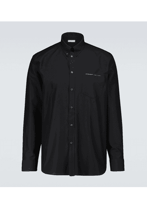Cotton Oxford shirt with webbing