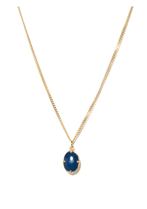 Miansai - Portal 14kt Gold-vermeil Pendant Necklace - Mens - Blue Gold