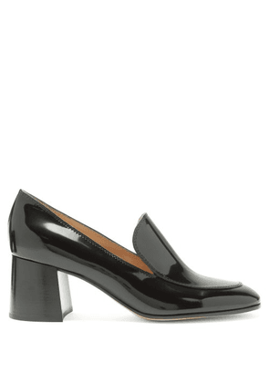 Gianvito Rossi - Block-heel 60 Patent-leather Loafers - Womens - Black