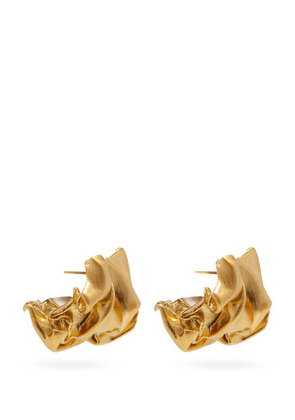Completedworks - Crunched 14kt Gold-vermeil Earrings - Womens - Yellow Gold