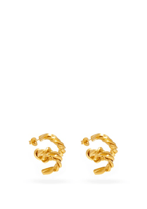 Completedworks - Spiral 14kt Gold-vermeil Earrings - Womens - Yellow Gold