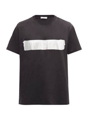 Givenchy - Silver Logo-panel Cotton-jersey T-shirt - Mens - Black