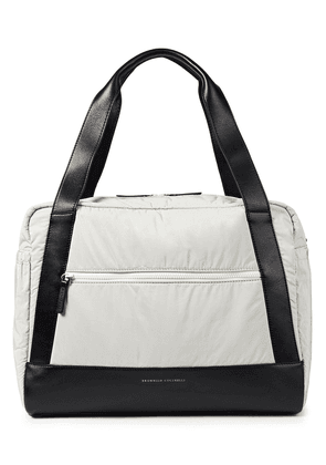 Brunello Cucinelli Leather-trimmed Shell Tote Woman Off-white Size --