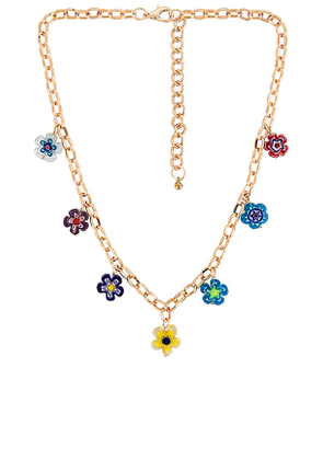 petit moments Daisy Chain Necklace in Metallic Gold.