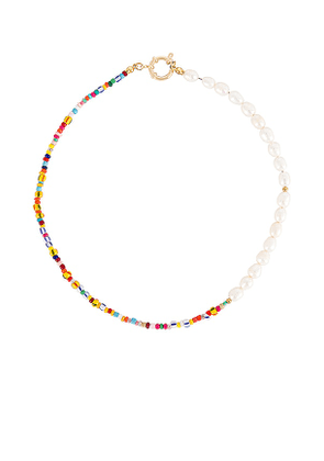 petit moments Lucky Necklace in White.