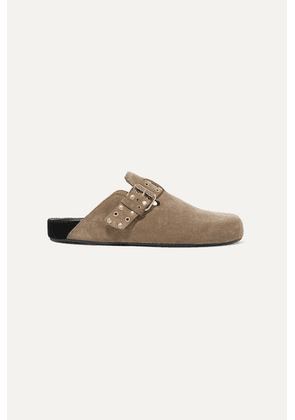 Isabel Marant - Mirvin Studded Suede Mules - Taupe