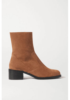 BY FAR - Lara Suede Ankle Boots - Brown