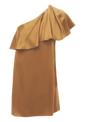 Viscose Crepe Satin One Shoulder Dress