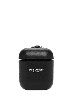 Logo Leather Airpods Case