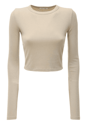 The Verona Cropped Cotton  T-shirt