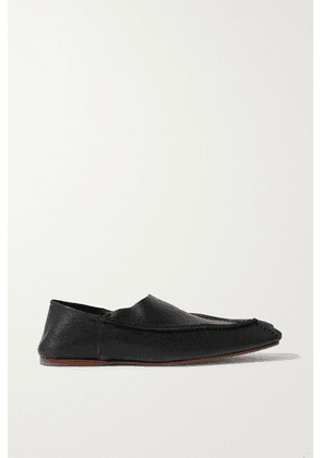 Acne Studios - Leather Collapsible-heel Loafers - Black