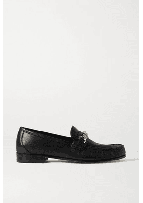 Gucci - + Net Sustain Sylvie Chain-embellished Leather Loafers - Black