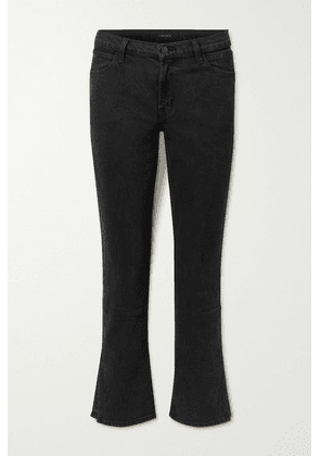 J Brand - Cropped Mid-rise Straight-leg Jeans - Black