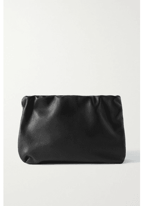 The Row - Bourse Leather Clutch - Black