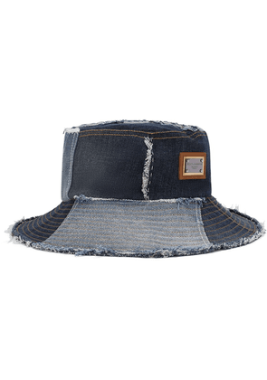 Dolce & Gabbana patchwork denim bucket hat - Blue