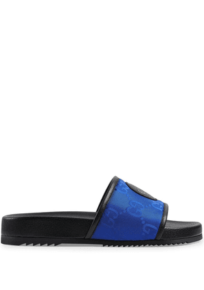Gucci Off The Grid logo patch slides - Blue