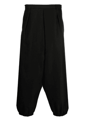 Saint Laurent cropped tapered trousers - Black