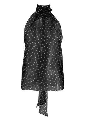 Saint Laurent polka dot halterneck top - Black