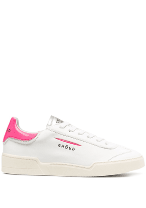 Ghoud low-top lace-up trainers - White