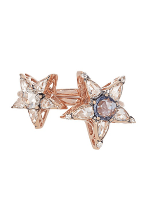 Selim Mouzannar - Istanbul Diamond, Sapphire & 18kt Gold Rings - Womens - Pink Gold