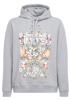 Printed Cotton Jersey Hoodie