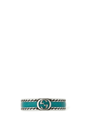 Interlocking G Enamel Ring