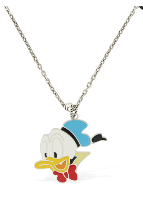 Enamel Donald & Gg Charm Necklace