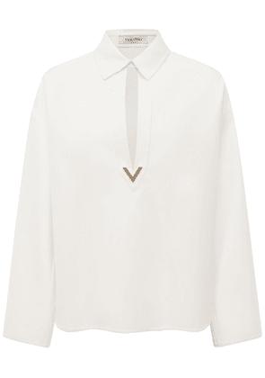 V Cotton Gabardine Shirt