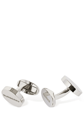 Silver Plated Logo Cufflinks