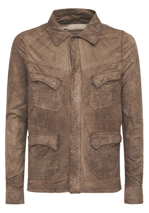 Brushed Leather Field Jacket