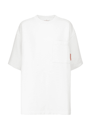 Oversized cotton-blend T-shirt