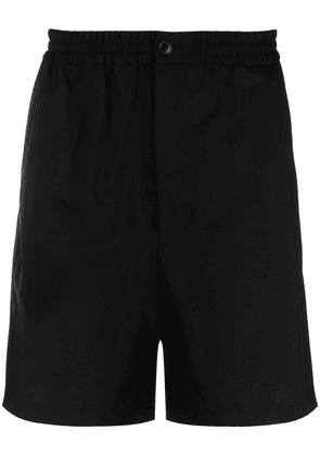 AMI Paris elasticated-waistband track shorts - Black