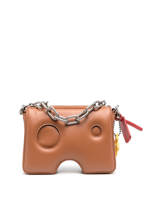 Off-White 15 Burrow zipped pouch - Brown
