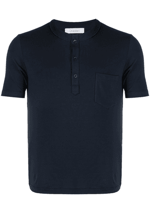 Cruciani crew-neck fitted T-shirt - Blue