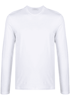 Cruciani crew-neck fitted top - White