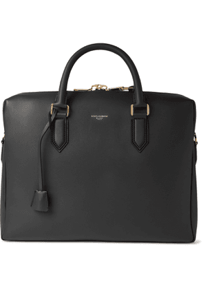 DOLCE & GABBANA - Leather Briefcase - Men - Black