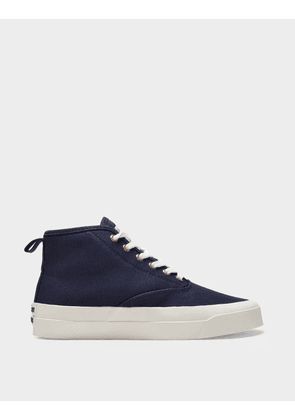 High-Top Sneakers in Black Canvas
