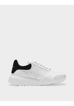 Court Trainer in White and Black Calfskin