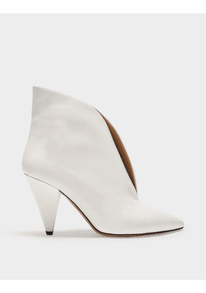 Arfee Boots in White Leather