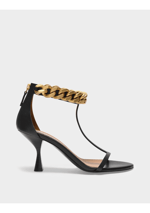 Falabela 45 Sandals in Black Synthetic Leather