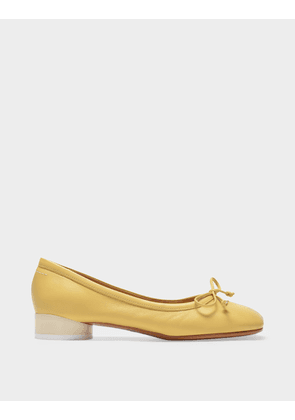 Ballerina Shoes in Limelight Smooth Leather