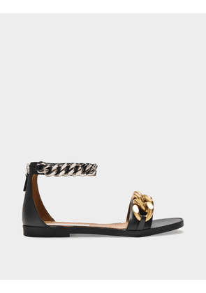 Falabela 10 Sandals in Black Synthetic Leather