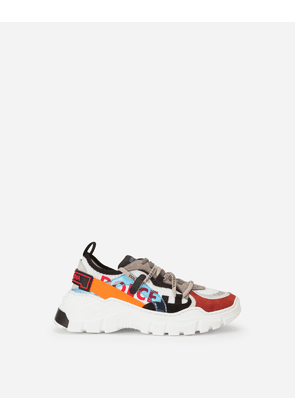 Dolce & Gabbana Shoes (24-38) - Multi-colored mixed-material new Daymaster sneakers MULTICOLOR male 34