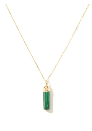 Luis Morais - Bolt Malachite & 14kt Gold Pendant Necklace - Mens - Green