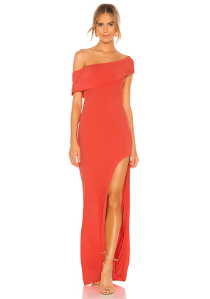 Lovers + Friends Marigold Gown in Coral. Size S.
