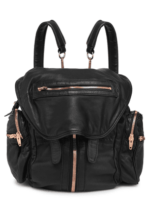 Alexander Wang Marti Convertible Leather Backpack Woman Black Size --