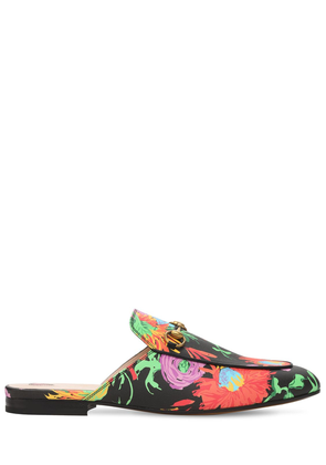 10mm Princetown Print Faux Leather Mules
