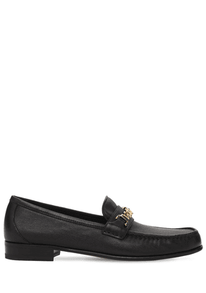 20mm Leather Loafers W/ Chain