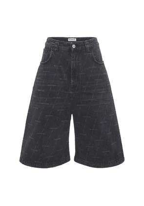 Logo Organic Cotton Denim Skate Shorts
